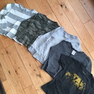 Lot of four 3T long sleeves and one 2T short
